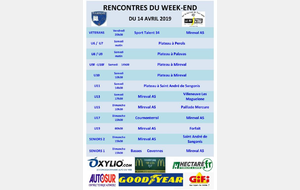 Rencontres du Weekend du 14 avril 2019